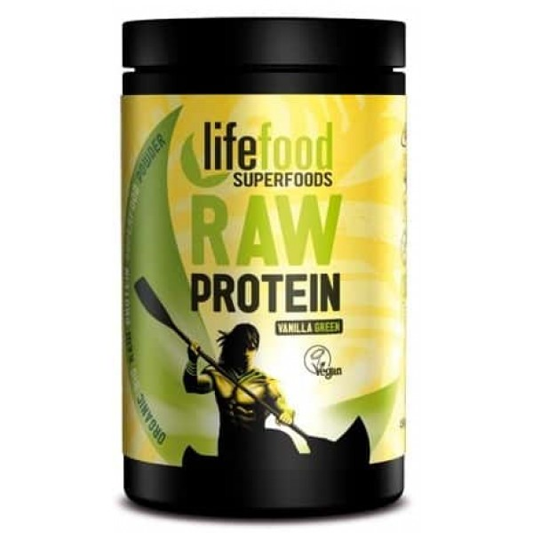 Pudra proteica Green Vanilla Superfood raw bio 450g