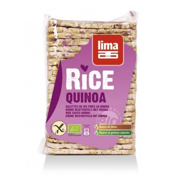 Rondele de orez expandat cu quinoa eco 130g, Lima