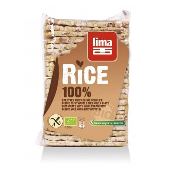 Rondele de orez expandat cu sare bio 130g, Lima