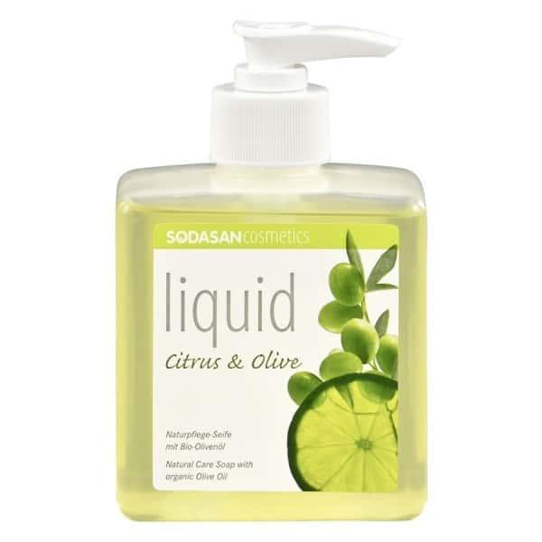 Sodasan Sapun lichid gel de dus bio citrice masline 300ml