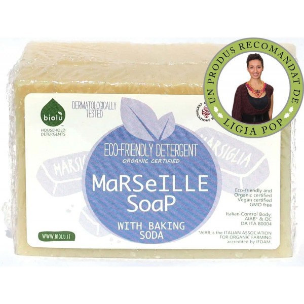 Sapun solid de Marsilia ecologic pentru rufe 140g