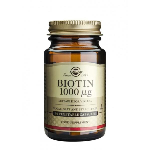 Solgar Biotin 1000mcg 50 capsule vegetale