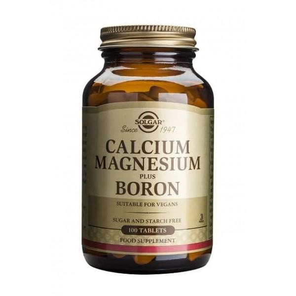 Solgar Calcium Magnesium plus Boron 100 tablete