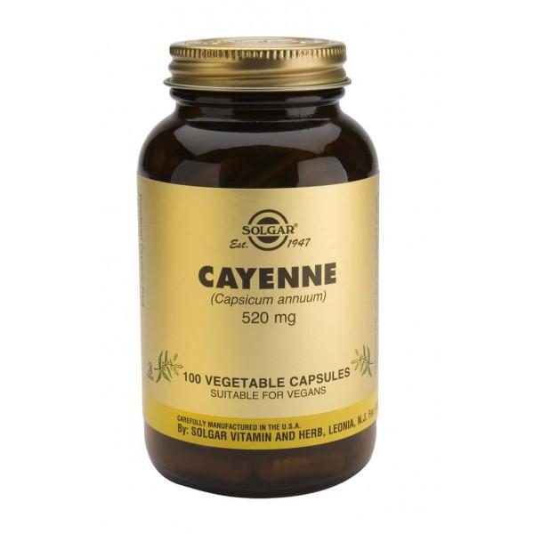 Solgar CAYENNE 520mg 100 veg caps