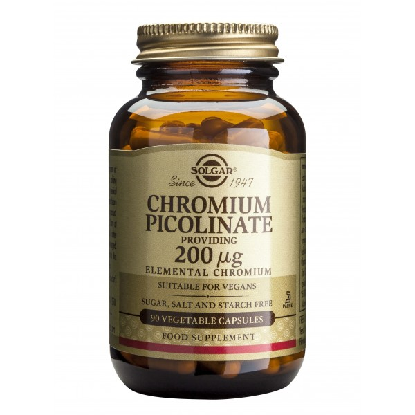 Solgar Chromium Picolinate 200ug 90 veg caps