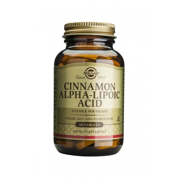 Solgar Cinnamon Alpha Lipoic 60 tablete