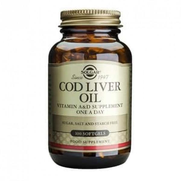 Solgar Cod Liver Oil 100cps moi