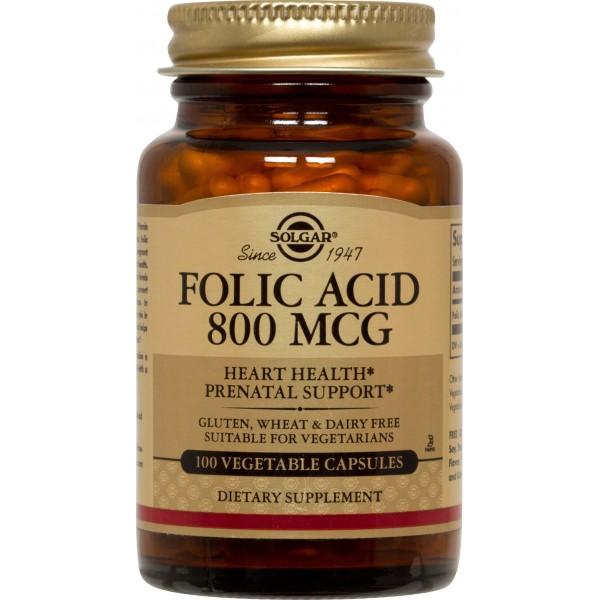 Solgar Folacin (Folic Acid) 800μg 100 tablete