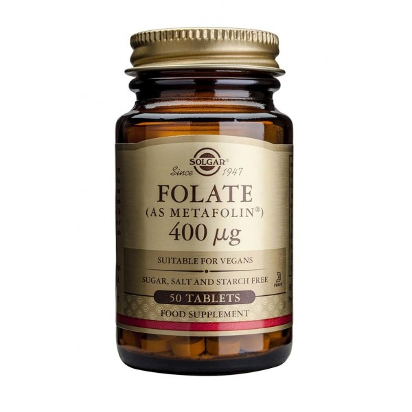 Solgar Folate (as Metafolin) 400mcg 50 tabs