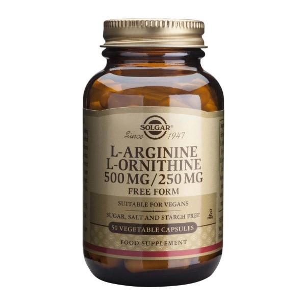 Solgar L-Arginine L-Ornithine 500/250mg 50 veg caps