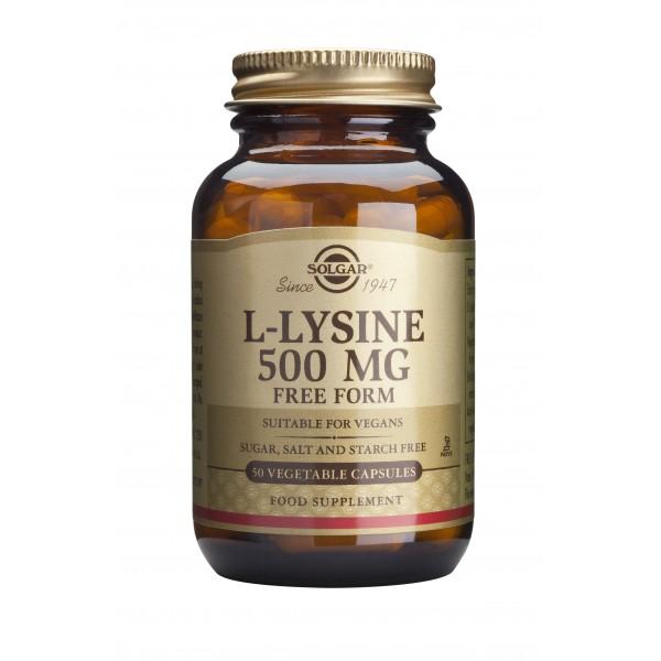 Solgar L-Lysine 500mg 50 veg caps