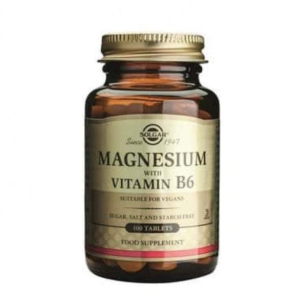 Solgar Magnesium + B6 100 tablete
