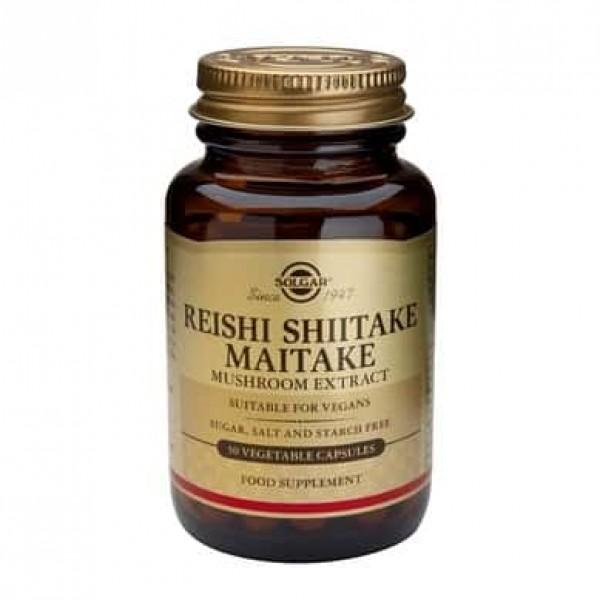 Solgar reishi shiitake maitake mushroom extract 50 cps