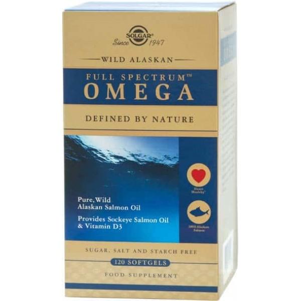Solgar Spectru complet Omega (Full Spectrum) din Somon Sălbatic de Alaska 120 capsule