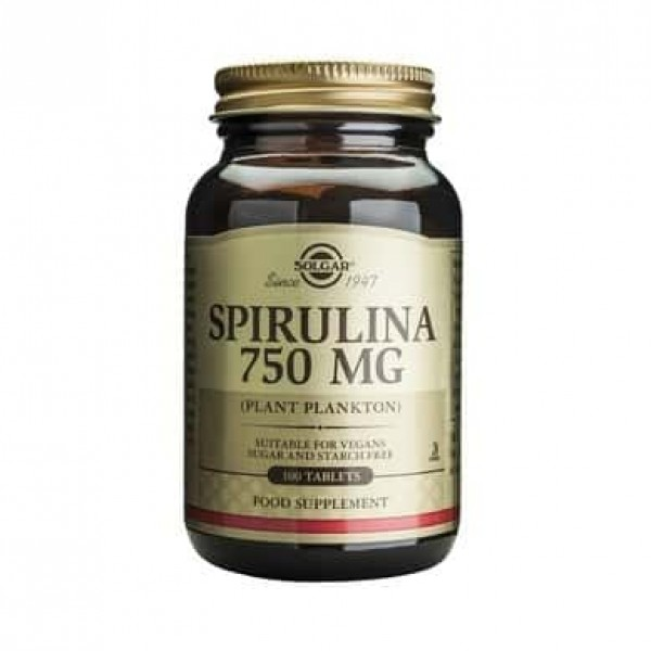 Solgar Spirulina 750mg 100 tablete