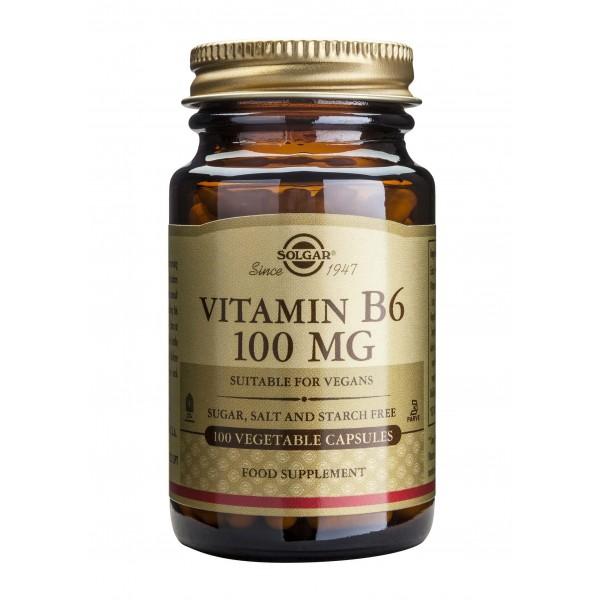 Solgar Vitamin B-6 100mg 100 veg caps