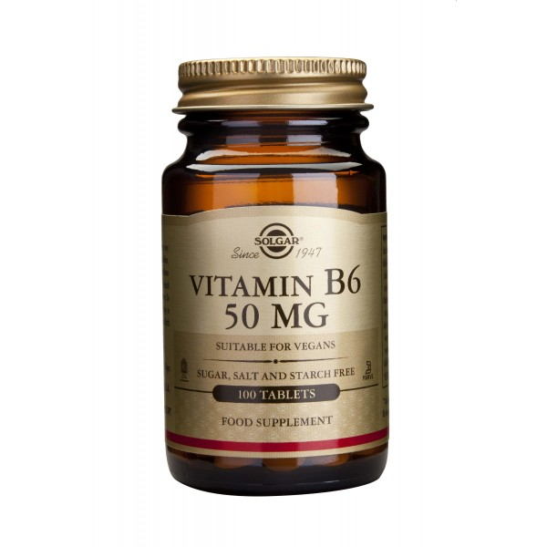 Solgar Vitamin B-6 50mg 100 tablete