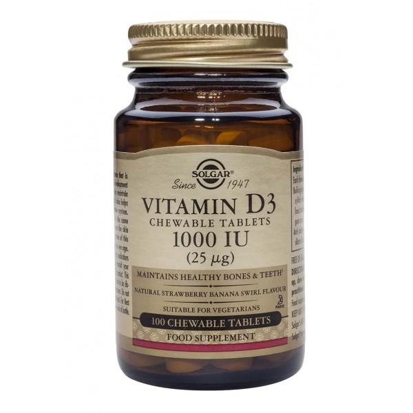 Solgar Vitamin D-3 1000 IU chewable 100 tablete
