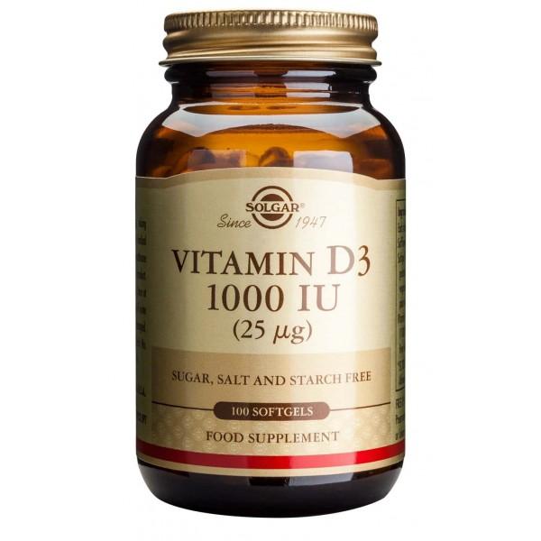Solgar Vitamin D3 1000ui 100cps