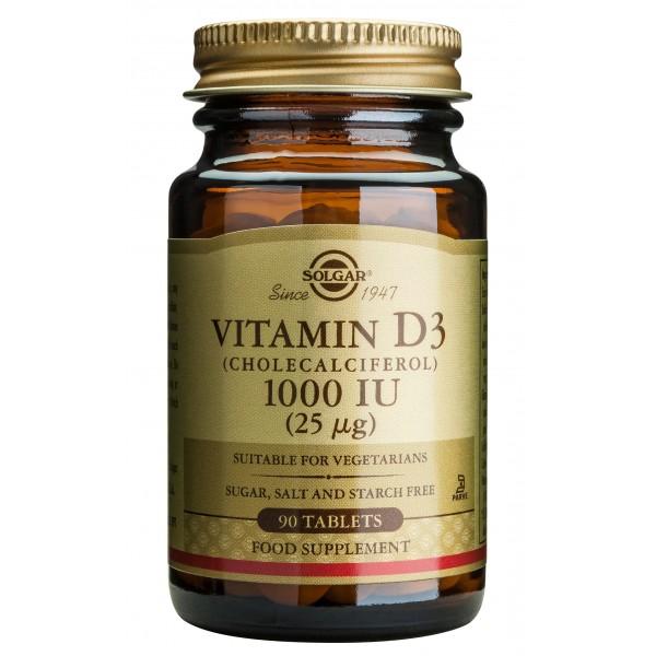 Solgar Vitamin D3 1000ui 90 tablete