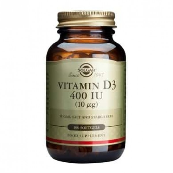 Solgar Vitamin D3 400 IU softgels 100 tablete
