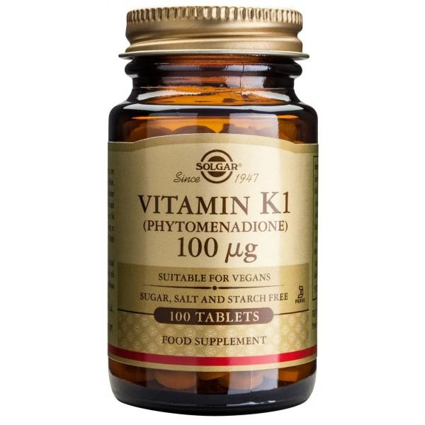 Solgar Vitamin K1 100mcg 100 tablete