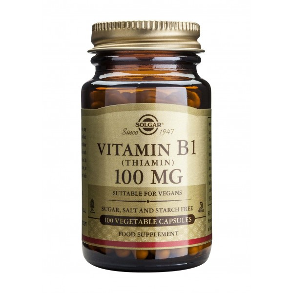 Solgar Vitamin B1 100mg 100 veg.caps.