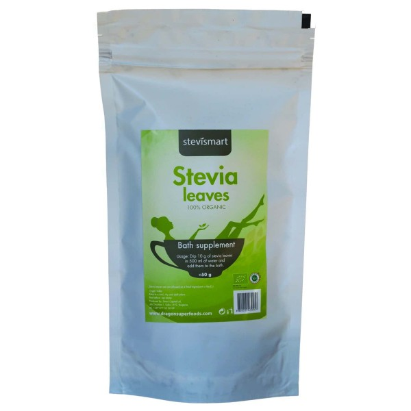 Stevia (stevie) frunze uscate raw bio 50g