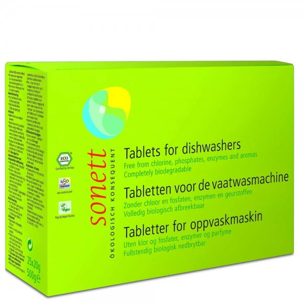Sonett Tablete ecologice pt. masina de spalat vase 800buc x 20g