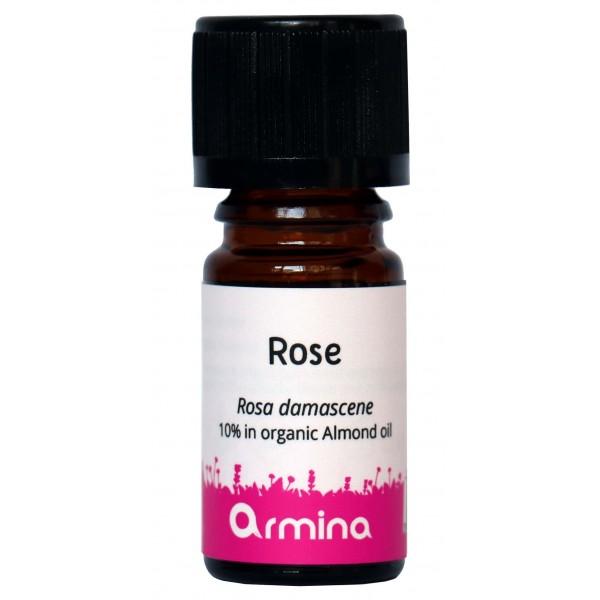 Ulei esential de trandafir (rosa damascena) in ulei de migdale bio 5ml