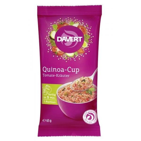 Davert Quinoa cup cu rosii si ierburi bio 65g
