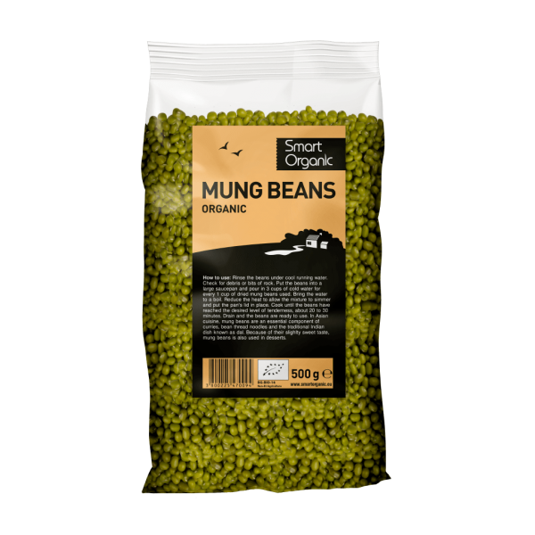 Fasole mung bio 500g Smart Organic