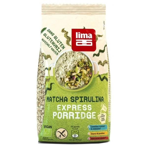 Lima Porridge Express cu matcha si spirulina fara gluten bio 350g
