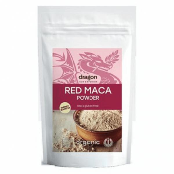 Maca rosie pudra raw bio 100g