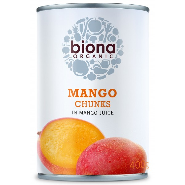 Mango bucati in suc de mango bio 400g