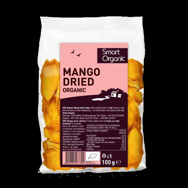 Mango uscat felii bio 100g