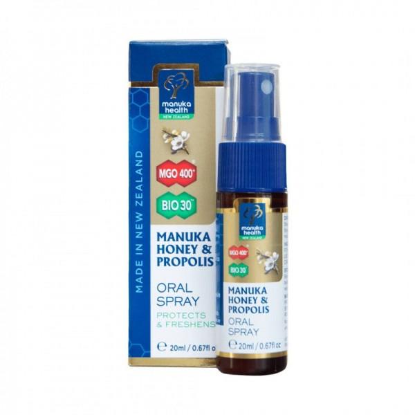 Manuka Health Spray oral cu Miere de Manuka (MGO 400+) si Propolis 20ml