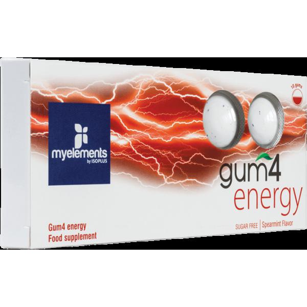 myelements GUM4 ENERGY - Guma De Mestecat Fara Zahar 10buc