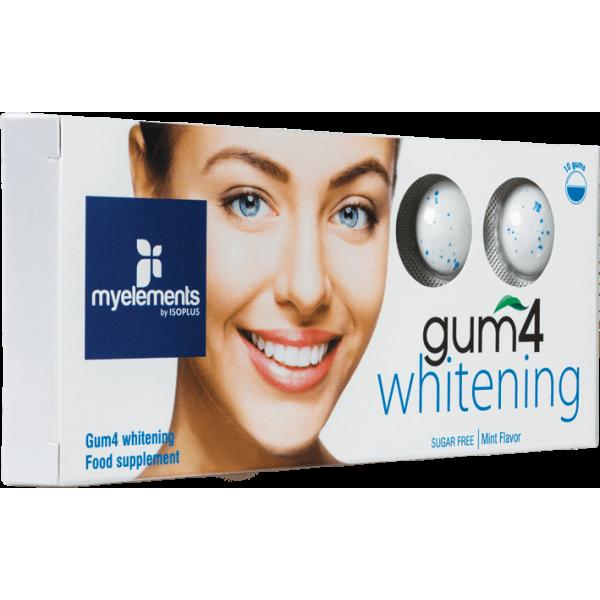 myelements GUM4 WHITENING - Guma De Mestecat Fara Zahar 10buc