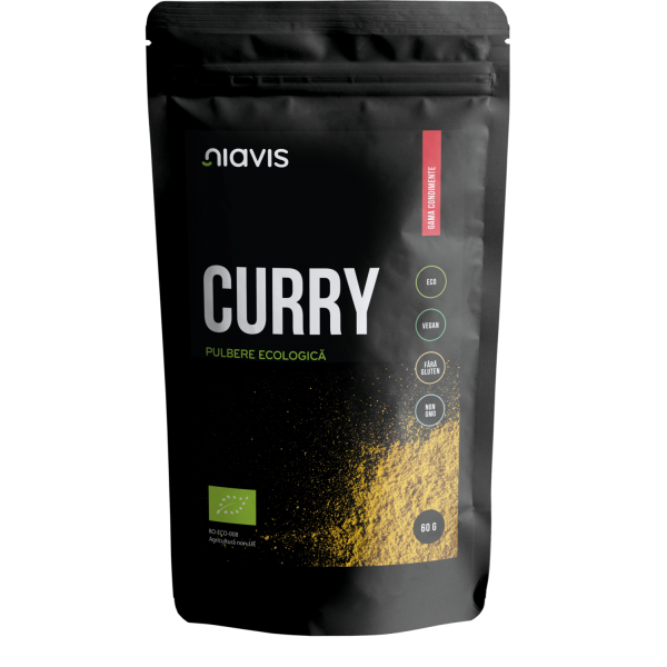 Niavis Curry Pulbere Ecologica/BIO 60g