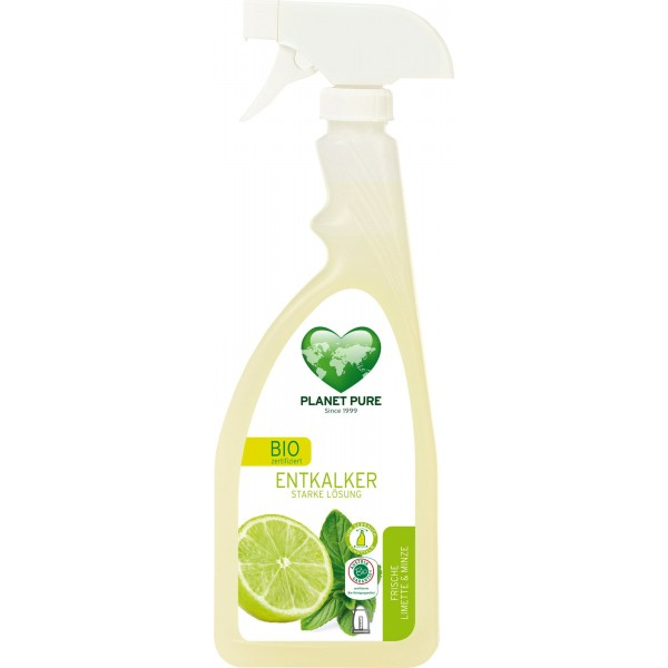 Planet Pure Detartrant bio cu pulverizator - lime si menta - 510ml