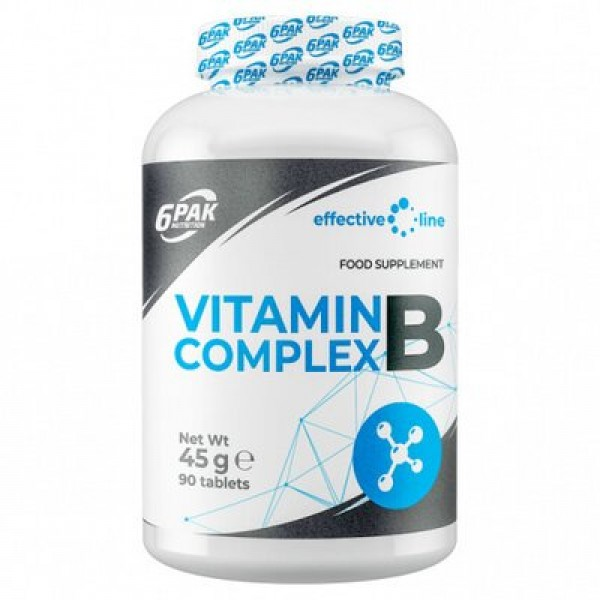 6Pak Nutrition Vitamina B Complex 500mg, 90 tablete