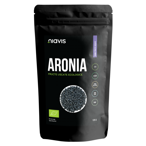 Aronia Fructe Uscate Raw Ecologice 125g