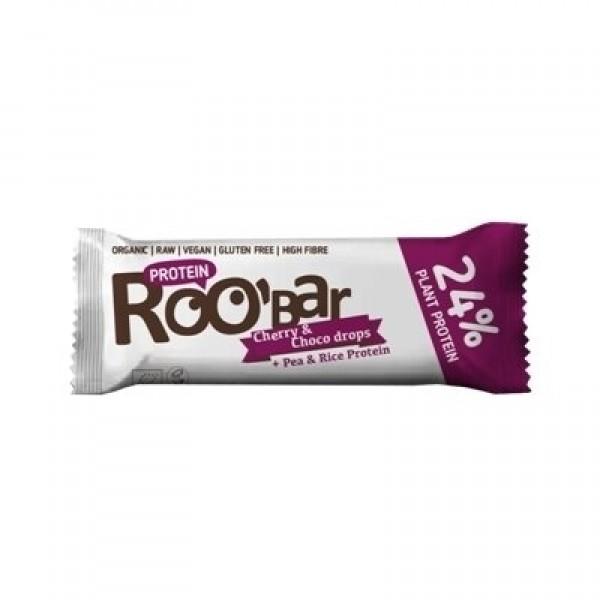 Baton proteic cirese ciocolata raw eco 40g