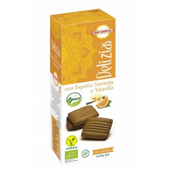 Bio Darma Biscuiti din spelta cu portocale si vanilie, indulciti cu agave bio 135g