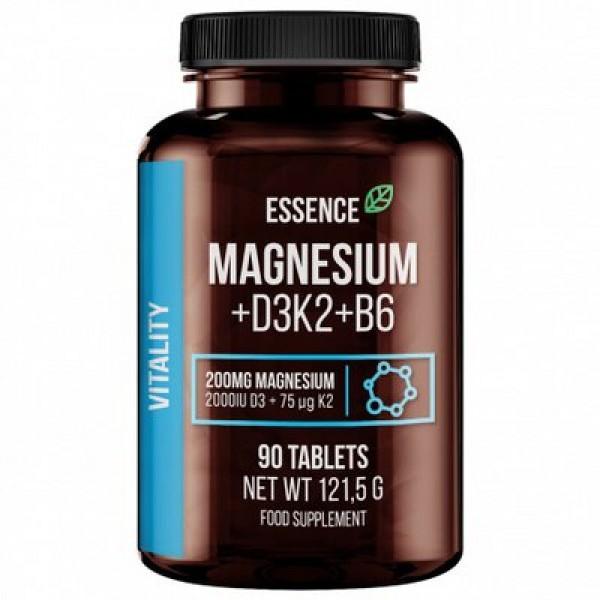 Essence Magneziu + Vitamina D3, K2 si B6, 90 tablete