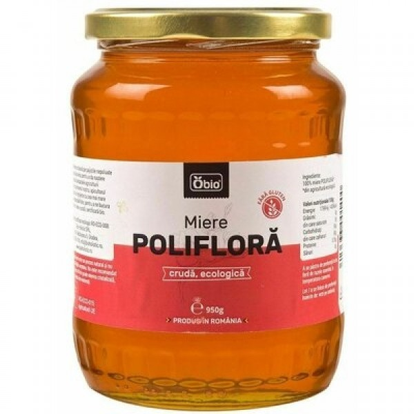 Miere poliflora cruda eco 950g