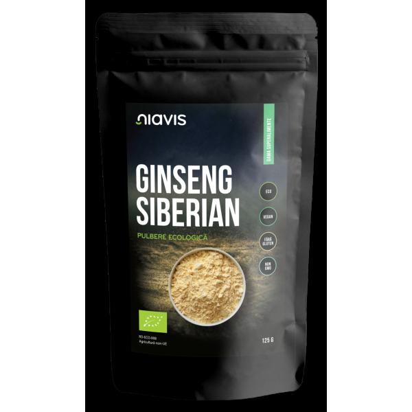 Niavis Ginseng Siberian Pulbere Organica/Bio 125g