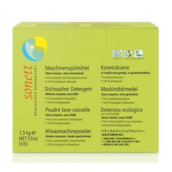 Sonett Detergent ecologic praf pt. masina de spalat vase 1.5kg