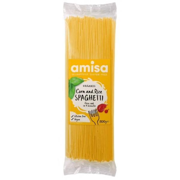 Spaghetti din orez si porumb fără gluten bio 500g